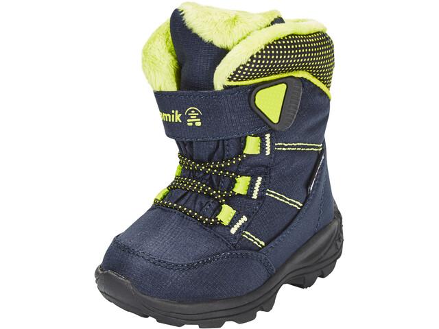 Kamik Stance Shoes Kids navy lime-marine citron vert